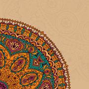 decorative vintage design element, illustration with lacy frame decoration, o - stock illustration