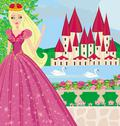 Stock Illustration of beautiful princess in the garden
