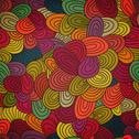 Stock Illustration of seamless hand-drawn abstract pattern. endless texture in warm colors.