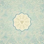 gorgeous seamless floral background. floral background in red with vintage la - stock illustration