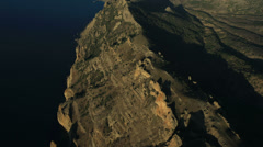 Aerial View: Kara Dag Mountain. Crimea, Ukraine. Summer 2013 Stock Footage
