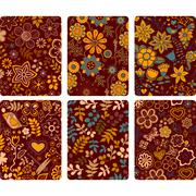 Fashion tablet skins. modern floral patterns with flowers to customize your o Stock Illustration