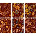 Stock Illustration of fashion tablet skins. modern floral patterns with flowers to customize your o