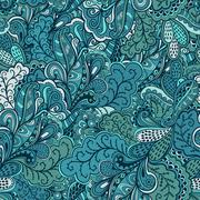 ornamental lace pattern, background with many details, looks like crocheting  - stock illustration