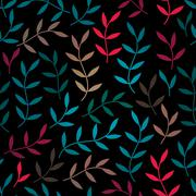 seamless pattern with leaf, abstract leaf texture, endless background.seamles - stock illustration