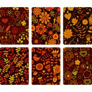 fashion tablet skins. modern floral patterns with flowers to customize your o - stock illustration