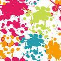 Stock Illustration of spray paint watercolor seamless pattern.copy square to the side and you'll ge