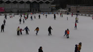 Stock Video Footage of People skate on the ice rink