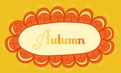 abstract frame for your text. autumnal theme header. vector banner. page deco - stock illustration