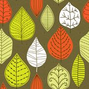 Seamless pattern with leaf, abstract leaf texture, endless background.seamles Stock Illustration