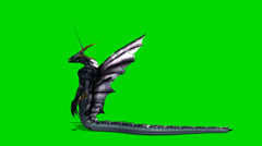 Snake dragon mythical creature in motion - green screen Stock Footage