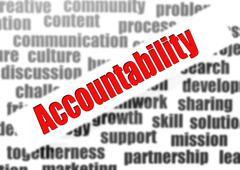 accountability word cloud - stock illustration