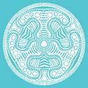 Stock Illustration of ornamental round lace pattern, circle background with many details, looks lik