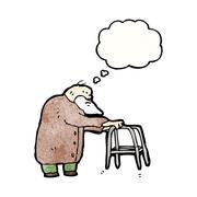 Stock Illustration of cartoon elderly man
