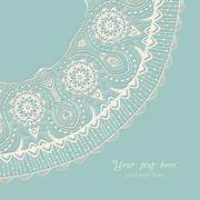 Stock Illustration of decorative vintage design element, illustration with lacy frame decoration