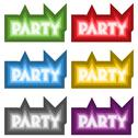 Stock Illustration of vector party signs