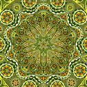 Stock Illustration of ornamental lace pattern, circle background with many details, looks like croc