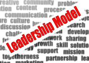 Stock Illustration of leadership model word cloud