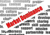 Stock Illustration of market dominance word cloud