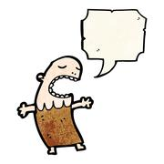 Chanting tribesman cartoon Stock Illustration