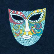 Carnival mask, mask stylization Stock Illustration