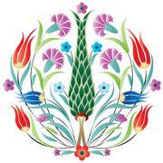 Oriental ottoman design degrade Stock Illustration