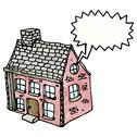 Stock Illustration of cartoon farm house