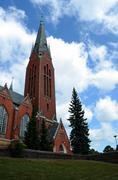 michael's church, turku, finland - stock photo