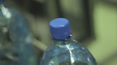 Bottle of water close up Stock Footage