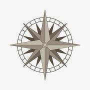 vector compass rose - stock illustration