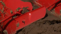 Agricultural machinery close up shot - stock footage