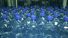 many bottles of fresh water - stock footage