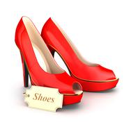 3d high heels shoes - stock illustration