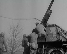 WW1 - Anti Air Units In Action 03 Stock Footage