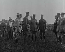 WW1 - Decorations Of French Aces 01 - stock footage