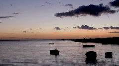 Sunset Ria Formosa-Olhao. Algarve. Portugal Stock Footage