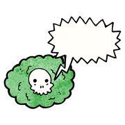 Cartoon death cloud Stock Illustration