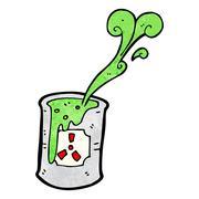 Stock Illustration of toxic waste cartoon