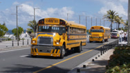 Stock Video Footage of school bus in San Juan, Puerto Rico