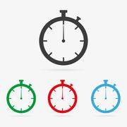 vector stopwatch icons - stock illustration