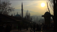 Stock Video Footage of Sarajevo at sunset