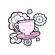 Cartoon teacup Stock Illustration