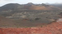 NationalPark Timanfaya Lanzarote Stock Footage