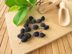 Dried aronia berries Stock Photos