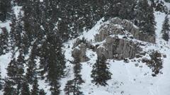 Colle de St Bartholemew Frozen Crag Stock Footage