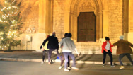 Stock Video Footage of Street Dancers teenagers do a dance choreography in a street in Sarajevo