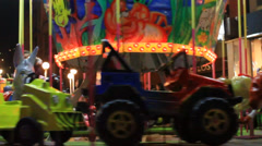 Carousel At Luna Park Stock Footage