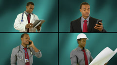 Career paths urban proffessional composite Stock Footage