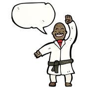 Cartoon karate chop man Stock Illustration