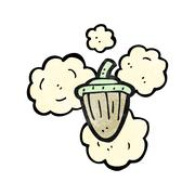 cartoon acorn - stock illustration